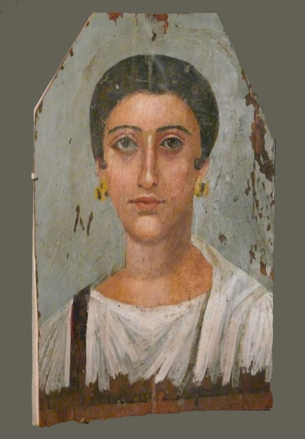 Mummy portrait of Roman woman