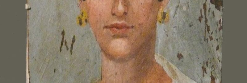 Portrait of a Roman woman placed on a mummy