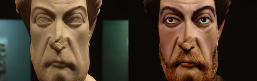 Odtworzone rzymskie popiersie