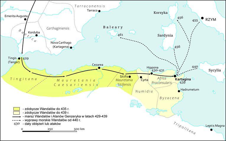 Migracja Wandalów na tereny Afryki