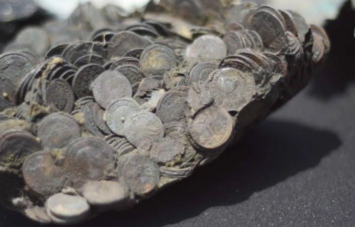 Monety odkryte we wraku u wybrzeży Izraela