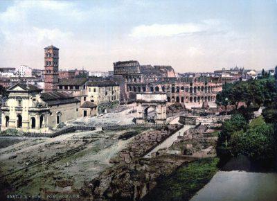 Panorama Rzymu z 1890 roku