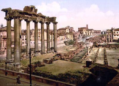Forum Romanum w roku 1890