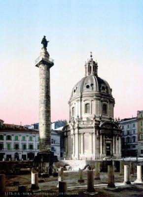 Kolumna Trajana na pocztówce z około 1890 roku