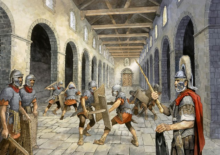 Extremely strict workouts of Romans