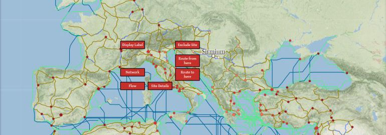 Interactive map of the Roman Empire showing the logistics of that time