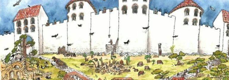 Pozostałości rzymskiego fortu niedaleko zamku w Lancaster