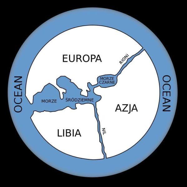 Prawdopodobna rekonstrukcja mapy Anaksymandra