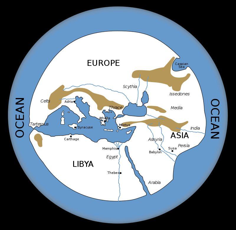 Rekonstrukcja mapy świata Hekatajosa