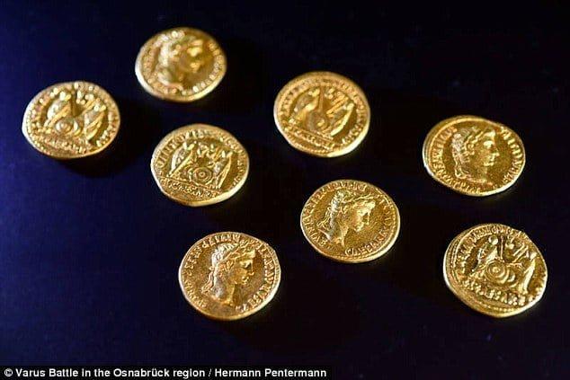 Osiem złotych monet znalezionych w Niemczech dowodzi rzymskiej masakry