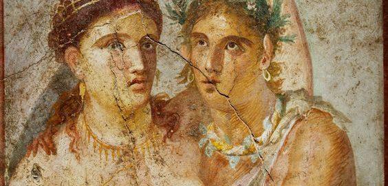 Fresco of a Roman couple from the villa of L. Caecilius Jucundus