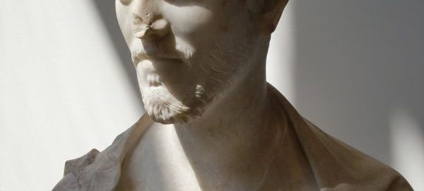 A magnificent marble bust of a young Roman