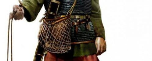 Roman legionnaire with additional protection