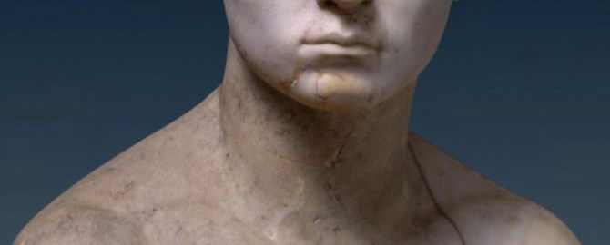 A bust of a young Roman