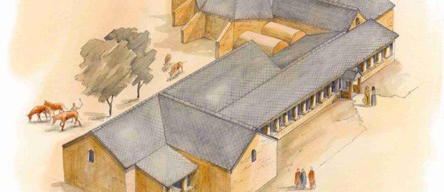 Wykopaliska w Lufton aby odkryć rzymską willę