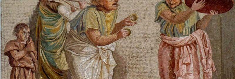 Rzymska mozaika ukazująca scenę komedii