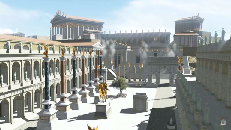 5 minutowa animacja ukazująca Rzym w 320 roku n.e.