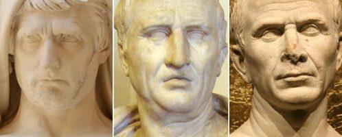 Rzymscy politycy I wieku p.n.e.: Katon Młodszy, Cyceron i Cezar