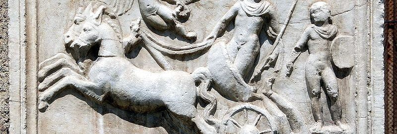 Roman relief showing Achilles