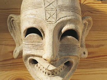 Phoenician mask dated to the 4th century BCE, found in Tunis.