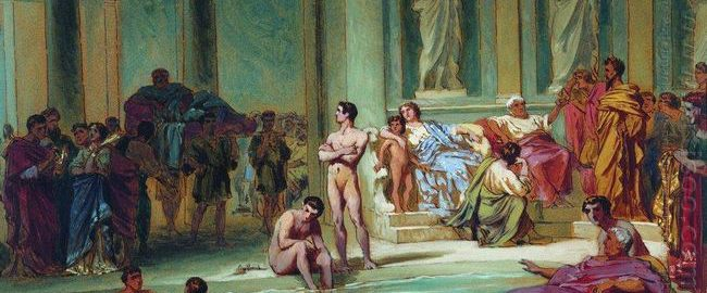 Fyodor Bronnikov, In Roman Baths