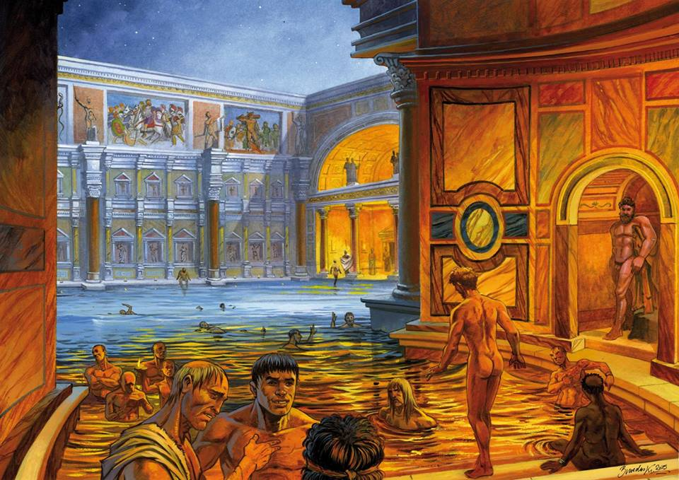 Graphic showing how the Baths of Caracalla could look like.