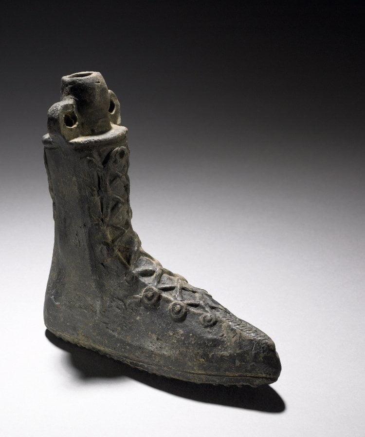 Roman perfume vessel in shape of shoe