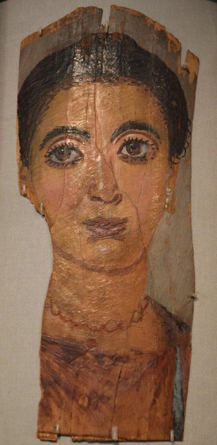 Portrait of a mummified Roman woman