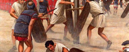 Exercises of the Roman legionnaires