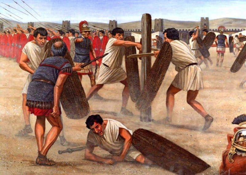 Exercises of Roman legionaries