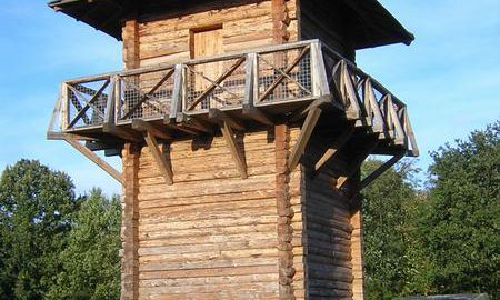 Reconstruction of a Roman watchtower