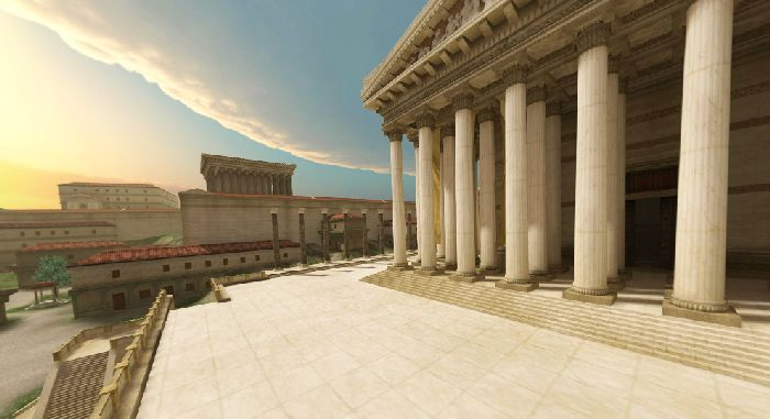 Wizualizacja 360° ukazująca centrum Rzymu