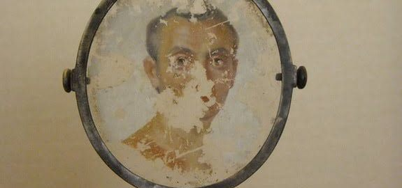 Portrait of a Roman on the glass