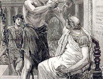 Caesar refuses to wear a koroy