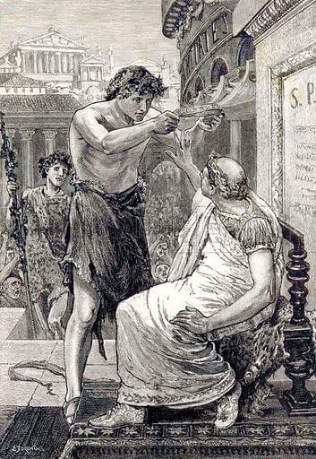 Cezar odmawia założenia koroy