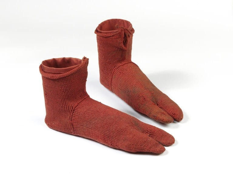 Pair of woolen socks from Roman Egypt