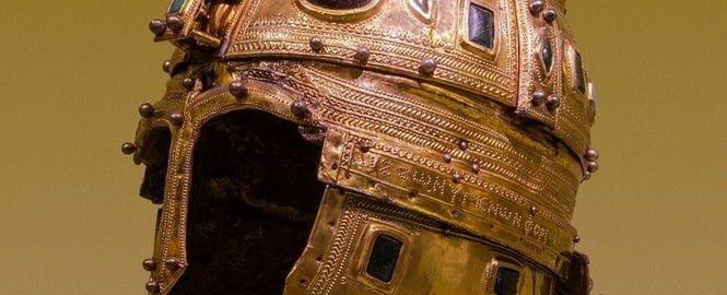 Richly decorated Roman helmet