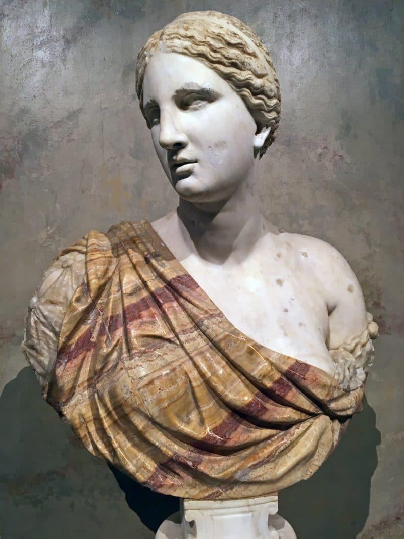 Roman beautiful bust of Venus