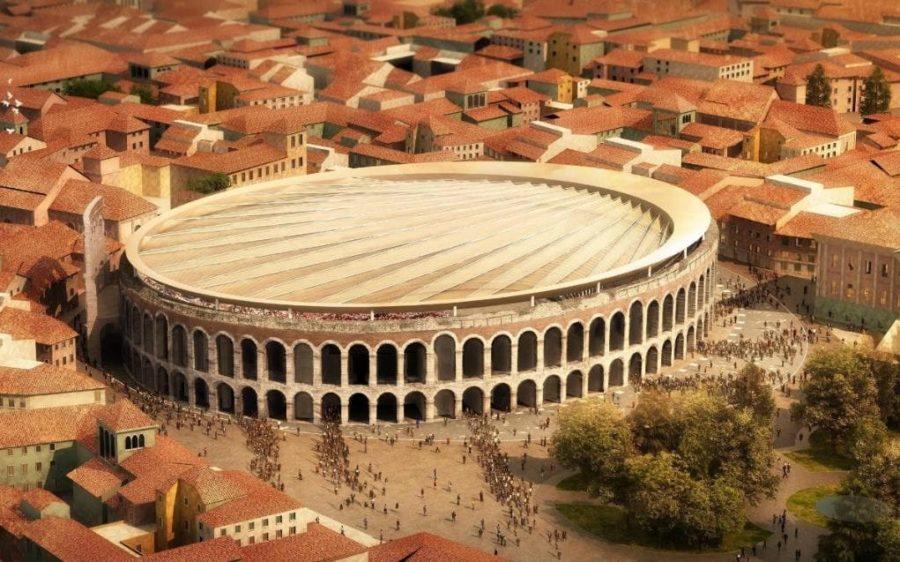 Rzymski amfiteatr w Weronie zostanie zakryty przez chowany dach
