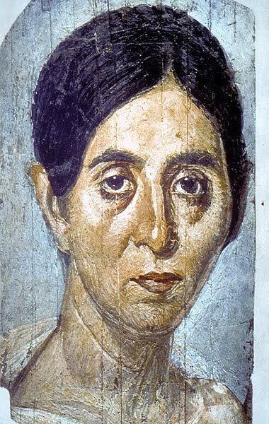 Mummy portrait of Egyptian woman
