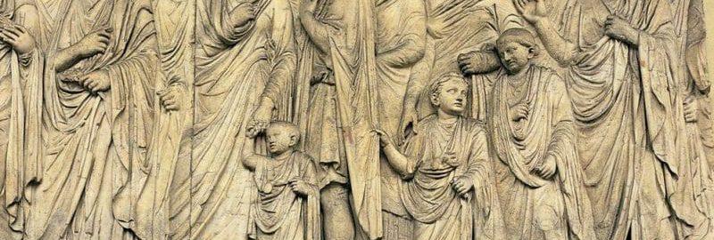 Płaskorzeźba ukazująca rzymską familię