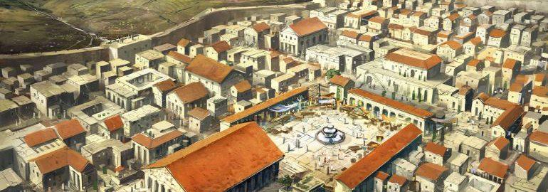 Fantastyczna animacja ukazująca antyczny Korynt z czasów rzymskich