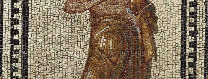 A philosopher on the Roman mosaic