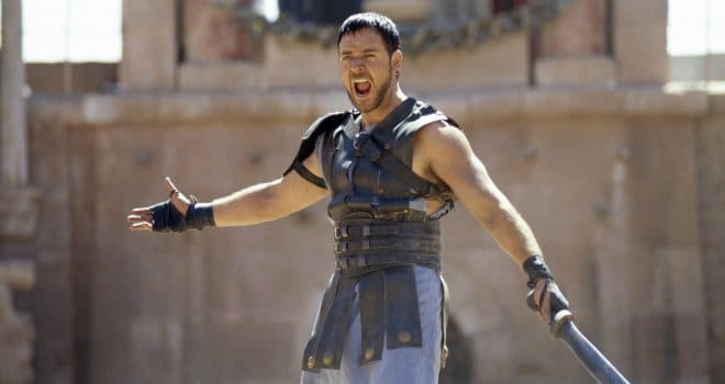 Russel Crowe as general Maximus in the film Gladiator