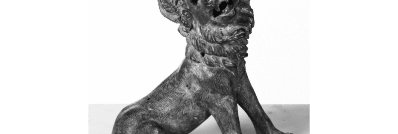 Roman sculpture showing a dog
