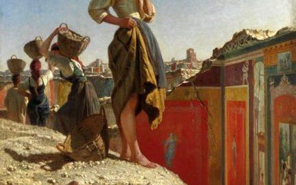 Wykopaliska w Pompejach, Filippo Palizzi