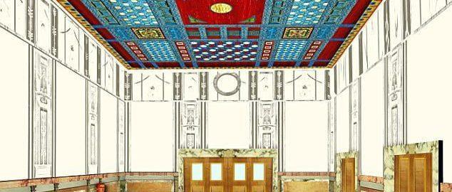 Naukowcom udało się zrekonstruować piękny sufit w nadmorskim pałacu w Herkulanum