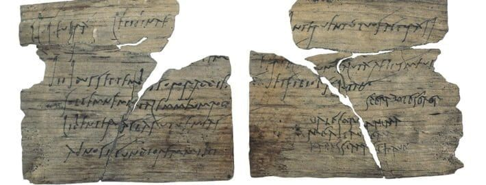 Roman tablets from the Vindolanda camp