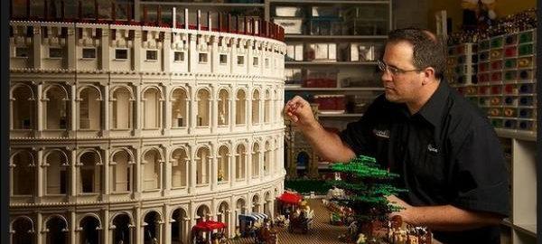 Koloseum wykonane z klocków LEGO