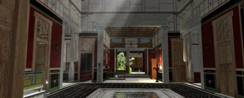 Stunning animation of rich house in Pompeii